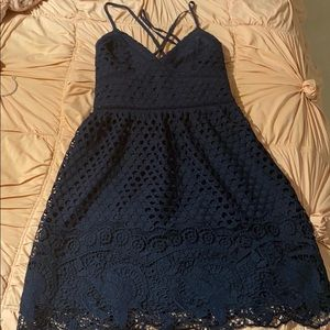 Navy Lace Abercrombie And Fitch Dress